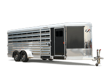Exiss Exhibitor Bumper Pull 716A Low Pro Livestock Trailer
